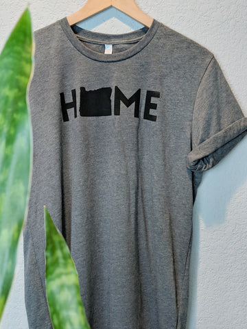 Oregon Home Tee | Ash