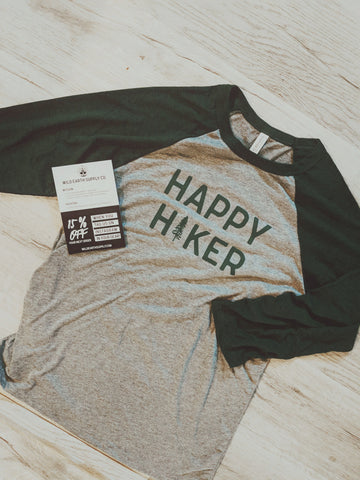 Happy Hiker | Raglan Tee