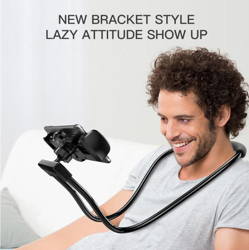 Lazy Neck Stand Mount with a 360 Rotating and Multiple Functions