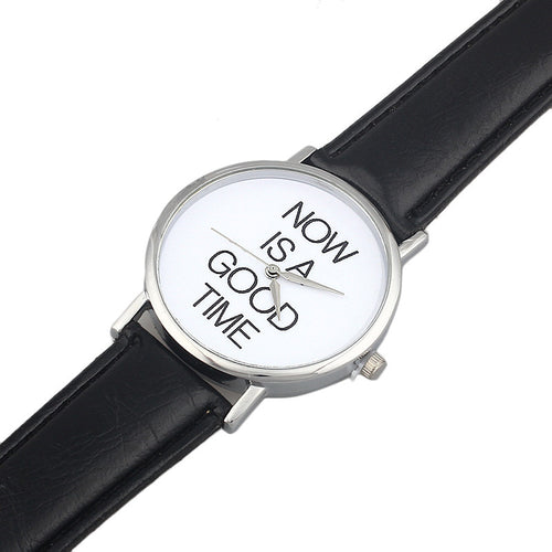 Ladies let's keep it real casual quartz wrist watch