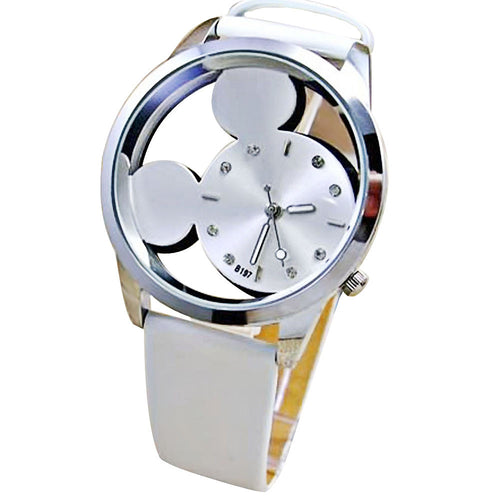 Crystal Women Luxury Quartz Mickey Mouse Watch
