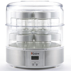 Automatic Yogurt Maker with Fourteen Individual 2 Ounce Glass Jars