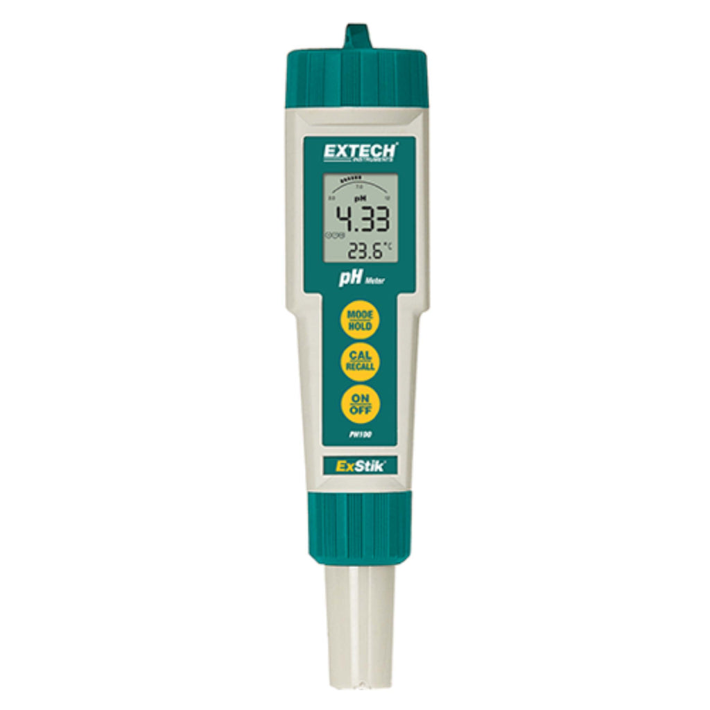 Waterproof pH Meter and Thermometer