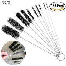 10pcs/set Cleaning Brush Pipe Cleaner Bong Cleaner Glass Tube Stainless Steel Nylon Brush Set QDD9123