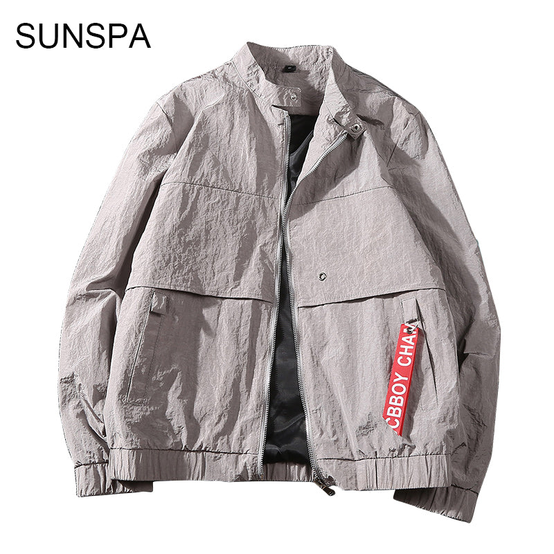 cdfd0591154 SUNSPA New 2018 Jacket Men Fashion Casual Loose Mens Jacket Sportswear Bomber  Jacket Mens jackets and ...