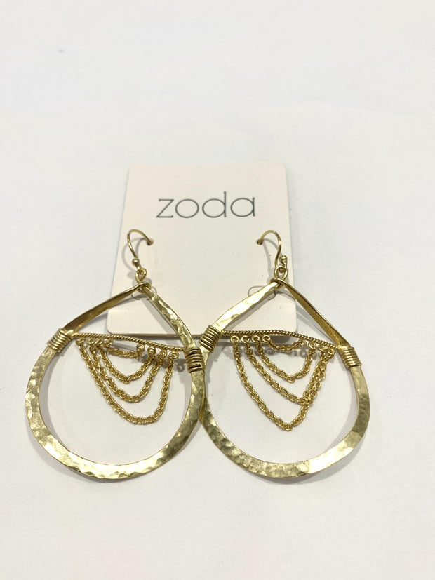 Zoda Elisa Gold Teardrop Earrings | Mabel and Woods | Women's Fashion