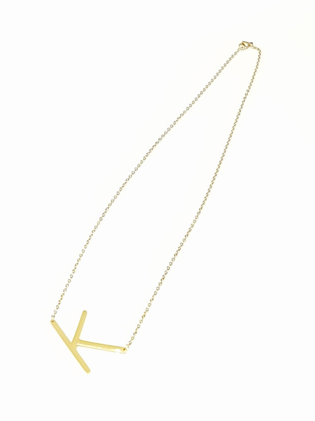 Gold Initial Letter Necklace | Mabel and Woods | Women's Fashion