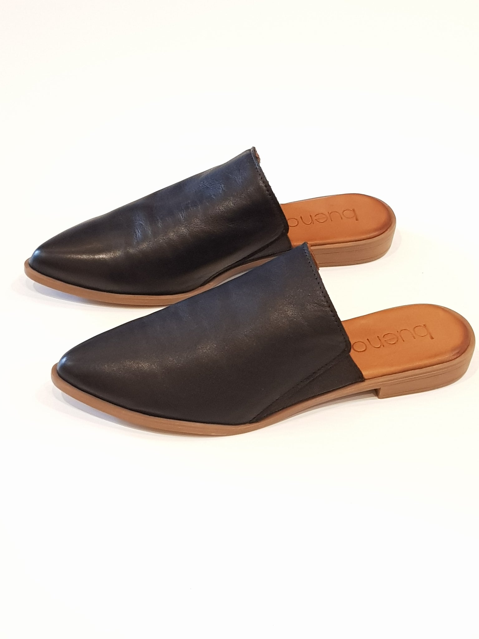 XRay Black Leather Mule