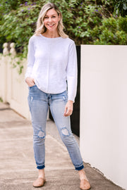 Sacha Knit - White | Mabel and Woods | Women's Fashion