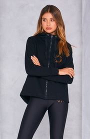 Cartel & Willow Dion Zip Up Jacket - Black Orbit | Mabel and Woods | Women's Fashion