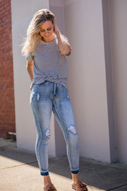 Bentley Jeans - Blue Skinny | Mabel and Woods | Women's Fashion