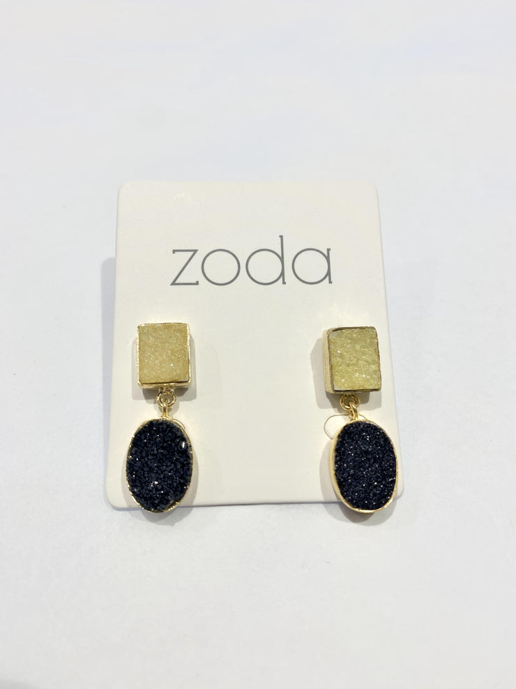 Zoda Black & Yellow Stone Earrings | Mabel and Woods | Women's Fashion