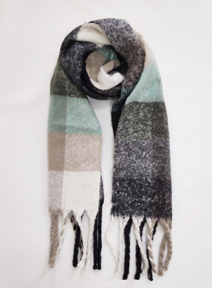 Check Me Scarf - Grey/Green