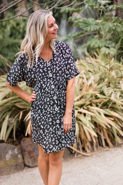 Hero Tunic Dress - Black Floral