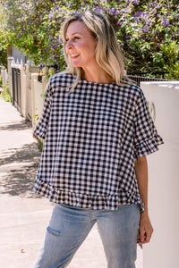 On The Run Top - Gingham