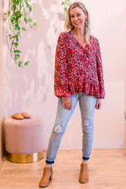 Jagger Top - Boho Print | Mabel and Woods | Women's Fashion