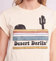 Desert Darlin' Cream Logo Tee | Mabel and Woods | Women's Fashion