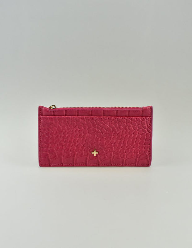 Peta & Jain Marley Zip Top Card Holder - Fushia