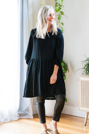 Ebby Tunic Dress - Black