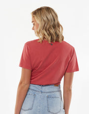AAE V Neck Tie Tee - Vintage Red