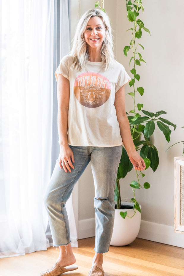 Take It Easy Tee - Nude