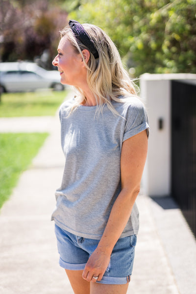 Roll It Grey Tee by Little Lies
