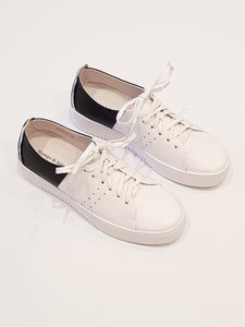 Lena Leather Sneaker - White/Black