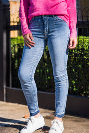 Amber Jeans - Mid Blue Wash | Mabel and Woods | Women's Fashion