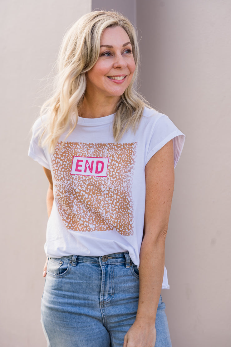 The End Tee - White