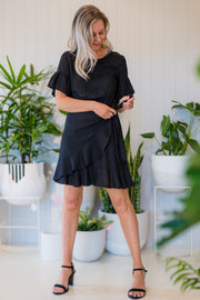 Parker Dress - Black Linen | Mabel and Woods | Women's Fashion