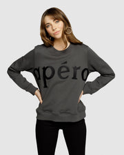 Apero Embroidered Jumper - Charcoal/Black | Mabel and Woods | Women's Fashion