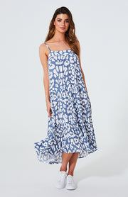 Cartel and Willow Avril Dress - Blue Leopard | Mabel and Woods | Women's Fashion