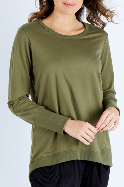 Dolly Sweater - Khaki | Mabel and Woods | Women's Fashion