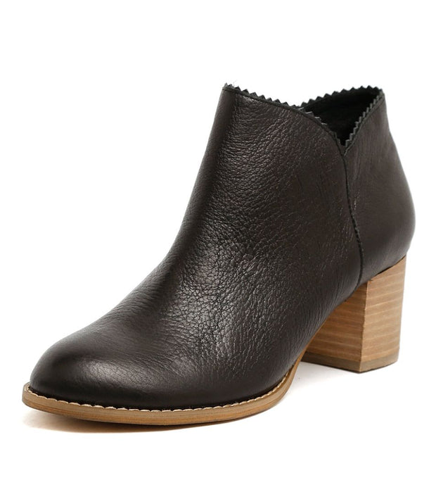 Sharon Leather Ankle Boot - Black | Mabel and Woods | Women's Fashion