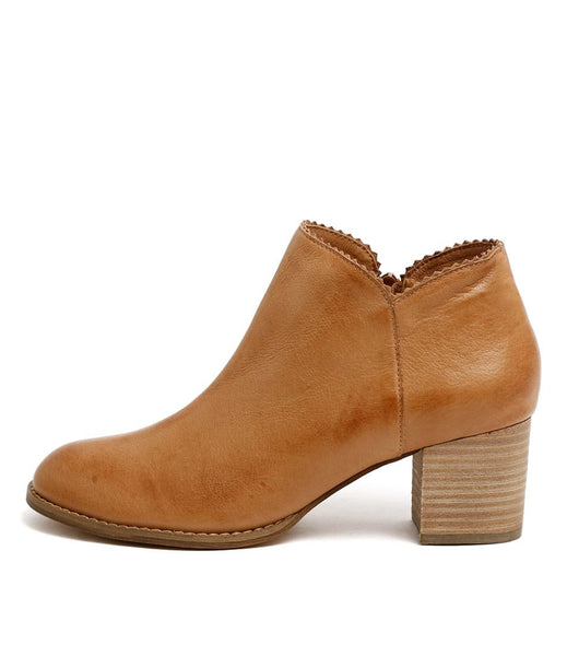 Sharon Leather Ankle Boot - Tan