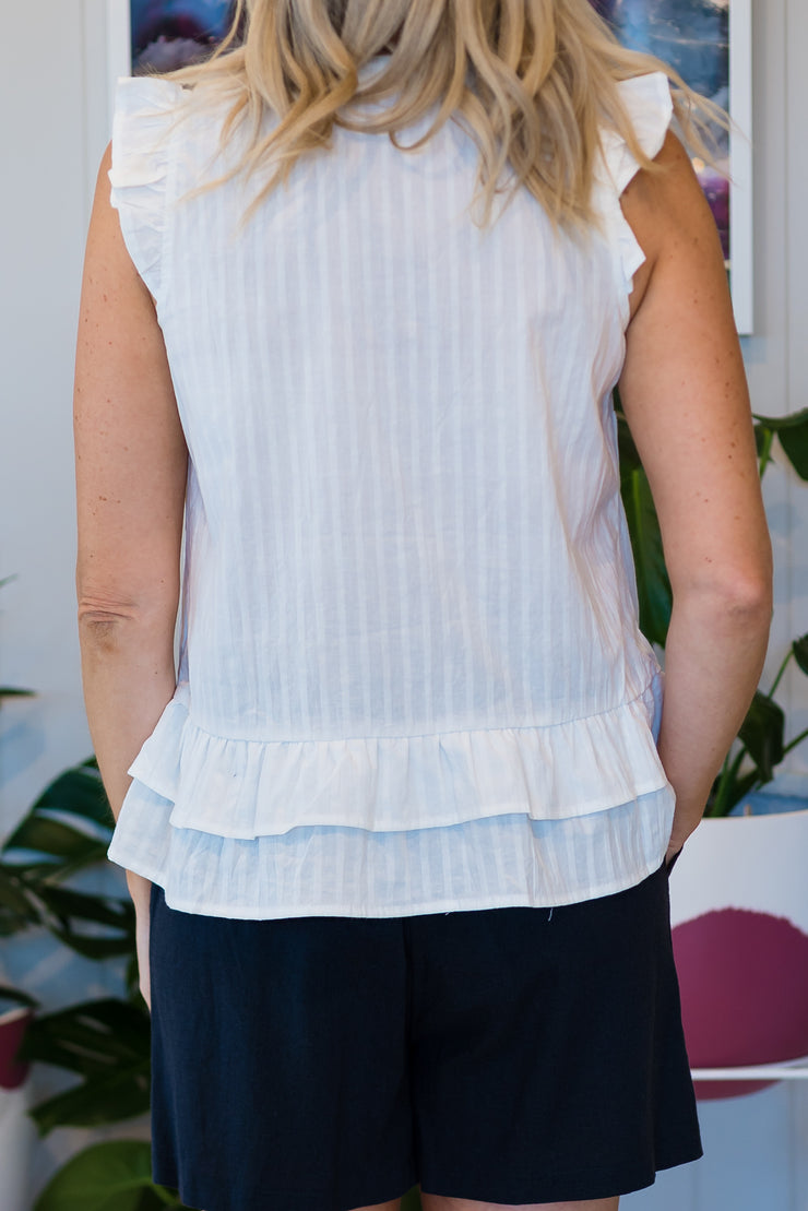 Chloe Top - White | Mabel and Woods | Women's Fashion
