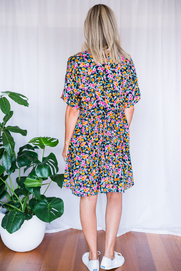 Hero Dress - Navy Floral
