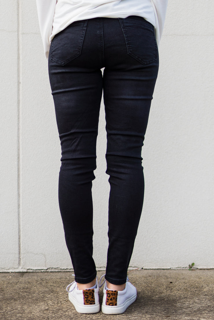 Zoe Denim Jegging - Black Wash | Mabel and Woods | Women's Fashion