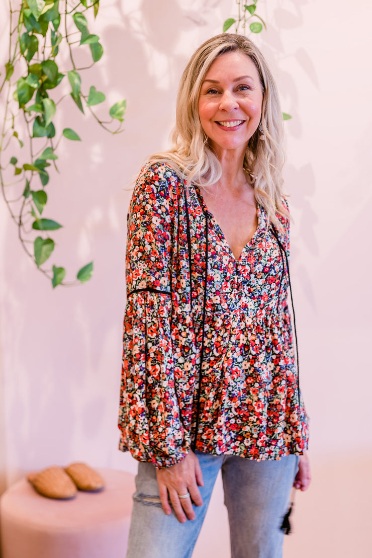 Jade Top - Spring Floral | Mabel and Woods | Women's Fashion