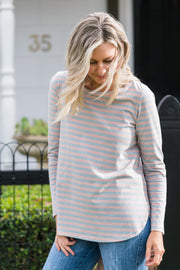Briton Top - Blush Stripe