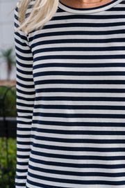 Briton Top - Navy Stripe