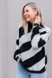 Ziggy Knit - Black & Grey