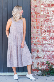 Sammie Dress - Beige Fleck