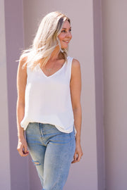 Mia Cami Tank - White | Mabel and Woods | Women's Fashion