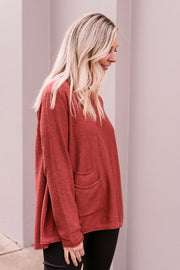 Run About Knit - Rust | Mabel and Woods | Women's Fashion