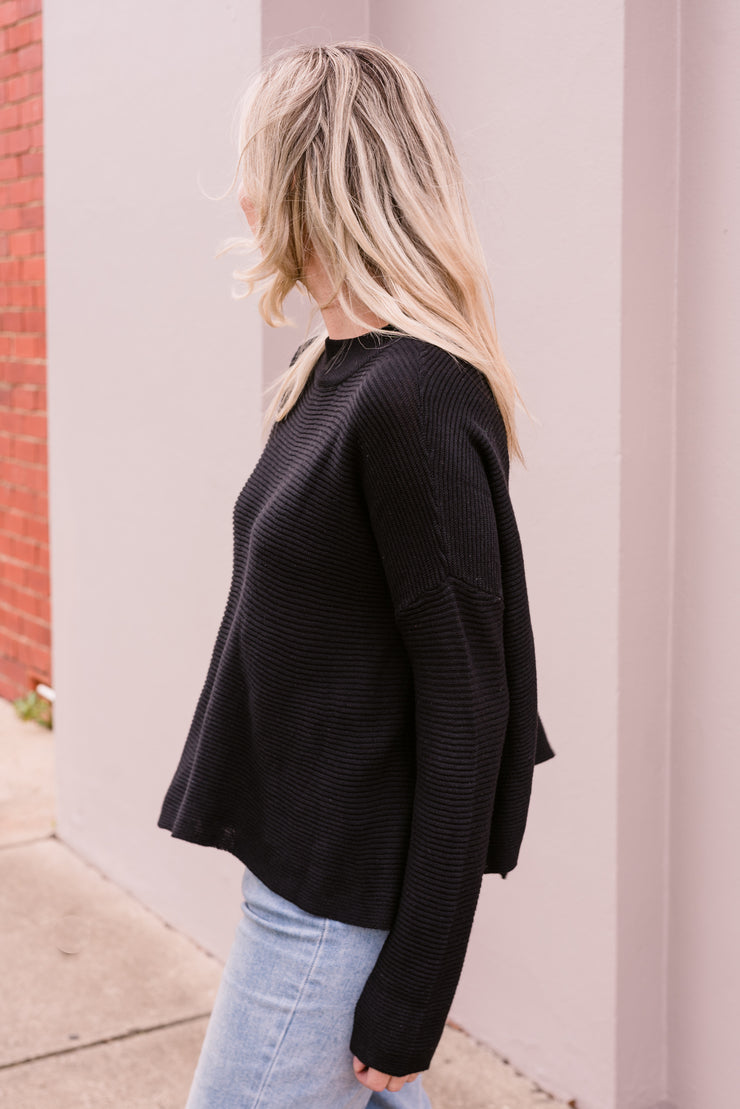 Oceans Knit - Black | Mabel and Woods | Women's Fashion