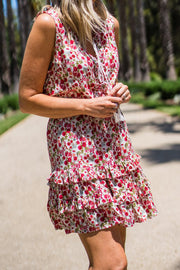Peony Dress - Red Floral | Mabel and Woods | Women's Fashion