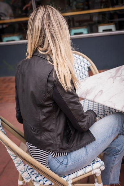 Jupiter Leather Jacket - Black
