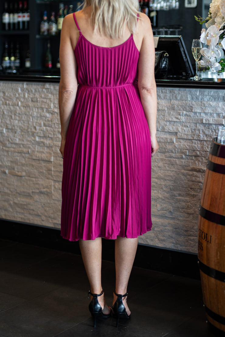 Silverstone Dress - Fuschia | Mabel and Woods | Women's Fashion