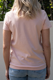 Me Time Raff Tee - Blush/White | Mabel and Woods | Women's Fashion